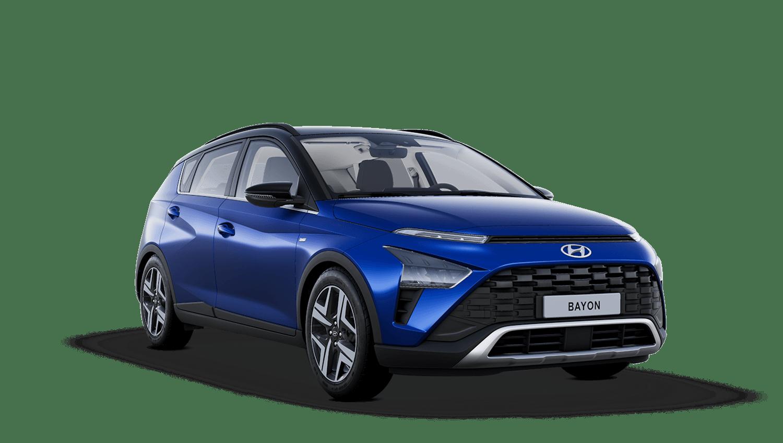Intense Blue with Phantom Black Roof Hyundai Bayon