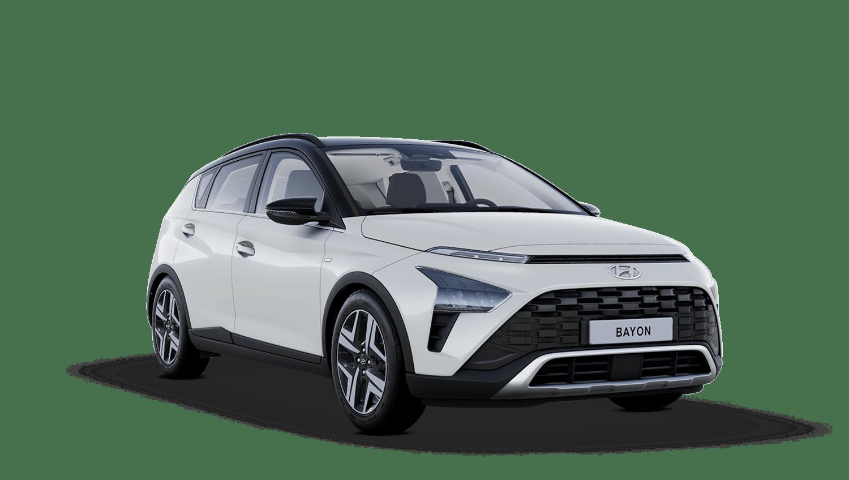 Polar White with Phantom Black Roof Hyundai Bayon