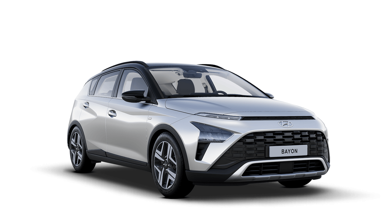 Sleek Silver with Phantom Black Roof Hyundai Bayon