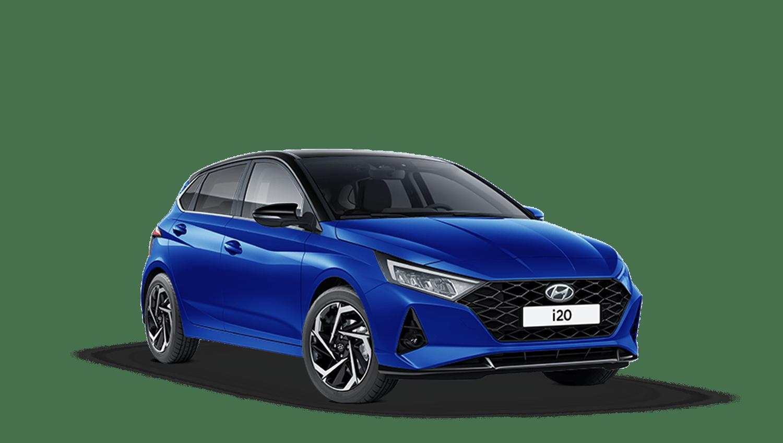 Intense Blue with Phantom Black Roof Hyundai I20 New