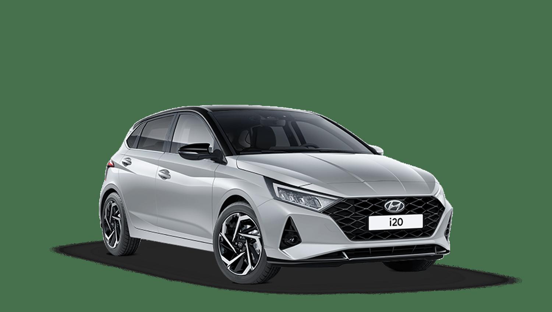 Sleek Silver with Phantom Black Roof Hyundai I20 New