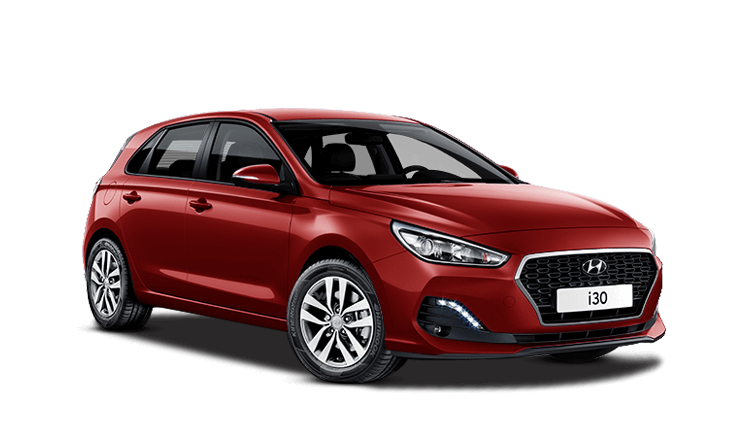 Fiery Red Hyundai I30