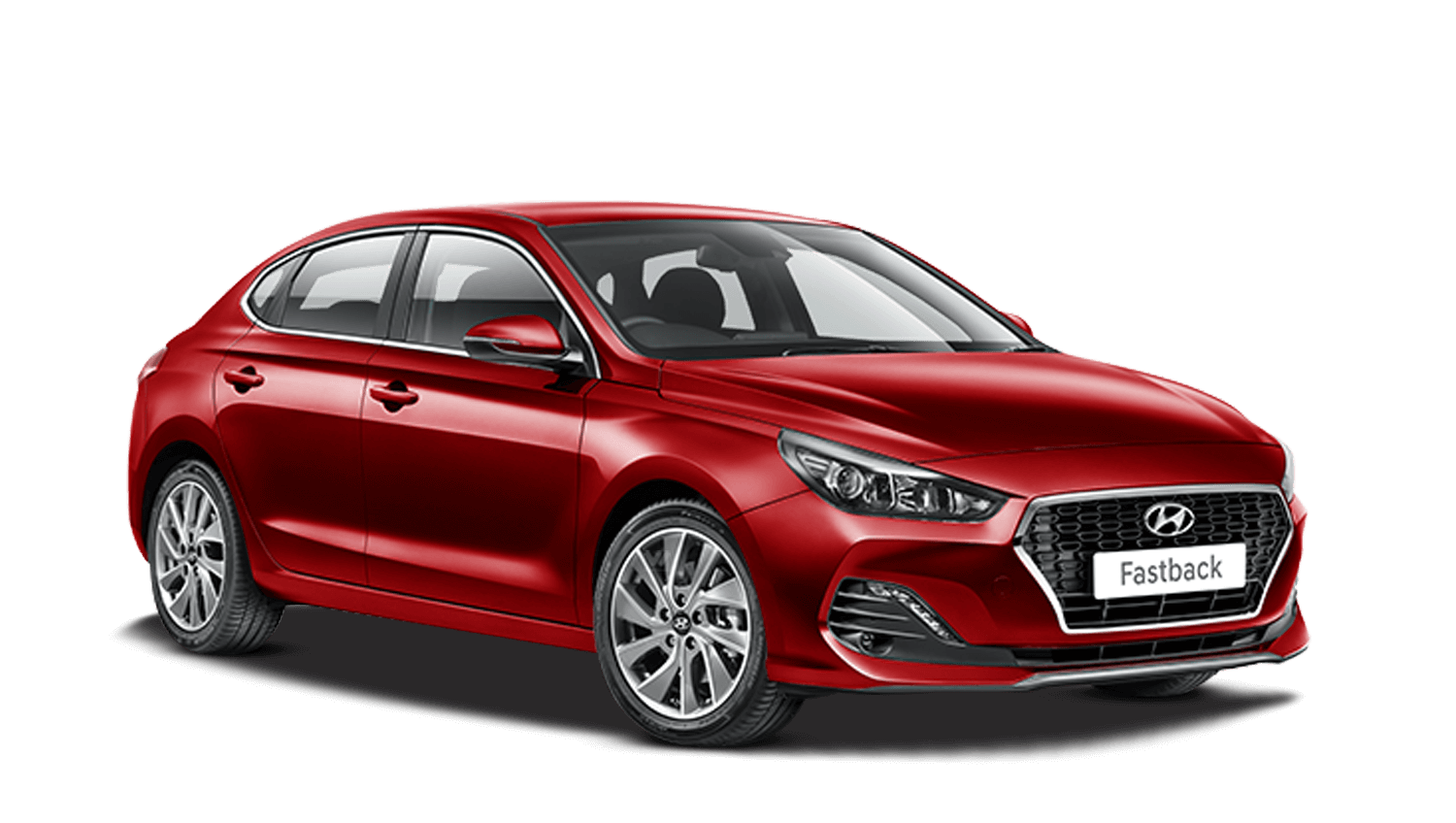 Fiery Red Hyundai I30 Fastback