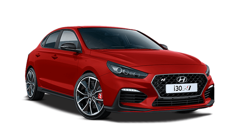 Engine Red Hyundai i30 Fastback N