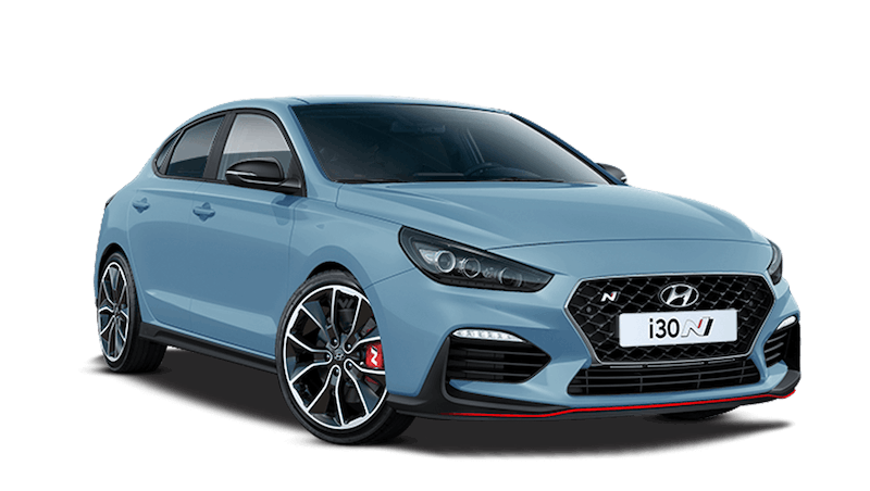 Performance Blue Hyundai i30 Fastback N
