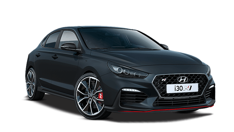Phantom Black Hyundai i30 Fastback N