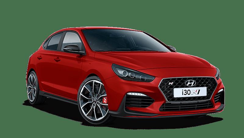 Engine Red Hyundai i30 Fastback N