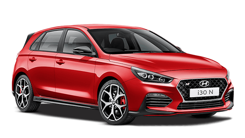 Engine Red Hyundai i30 N