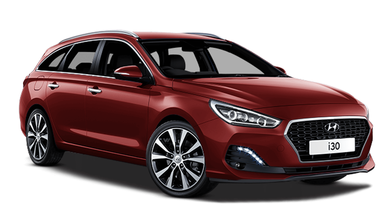 Fiery Red Hyundai I30 Tourer