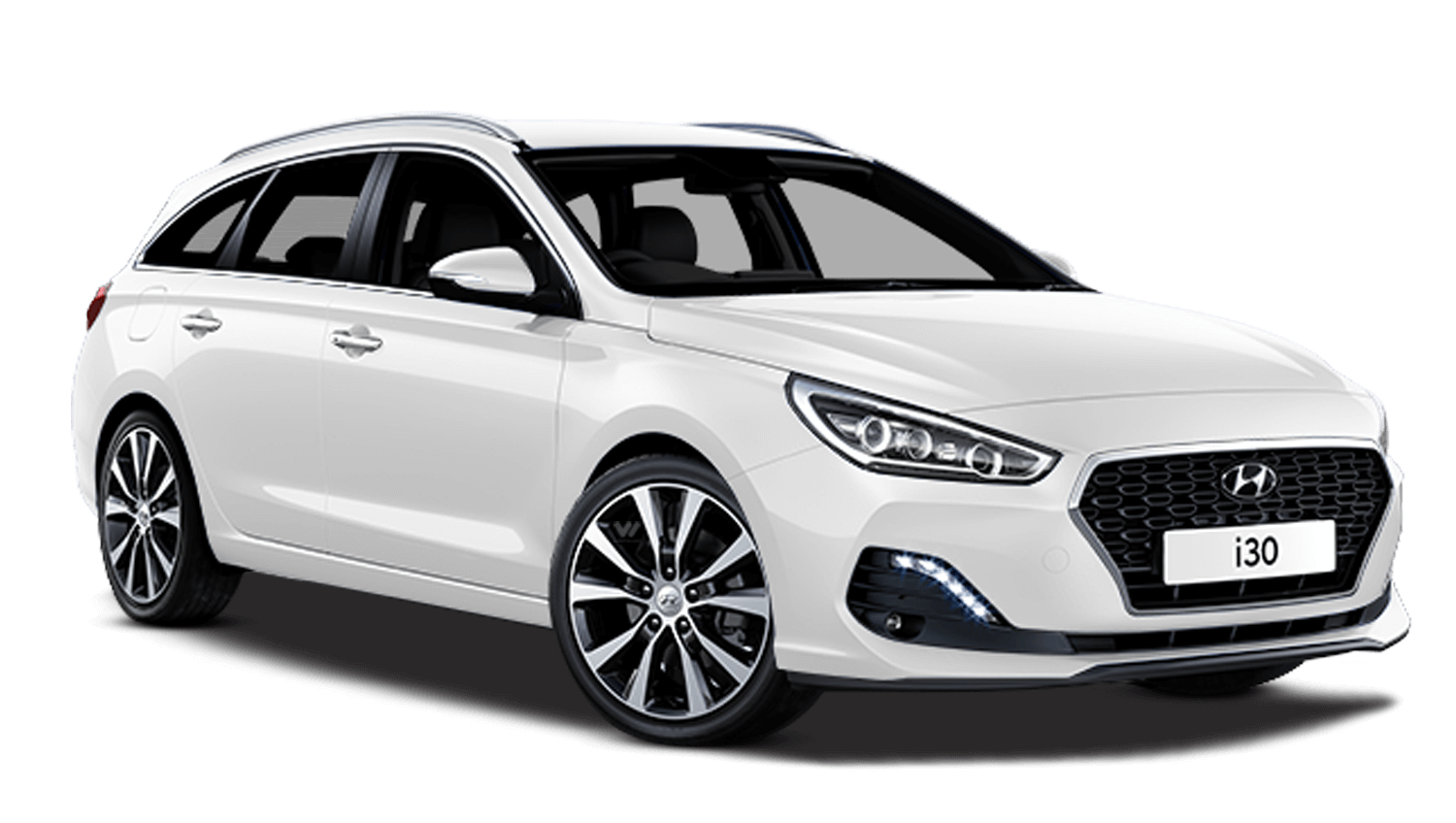 Polar White Hyundai I30 Tourer