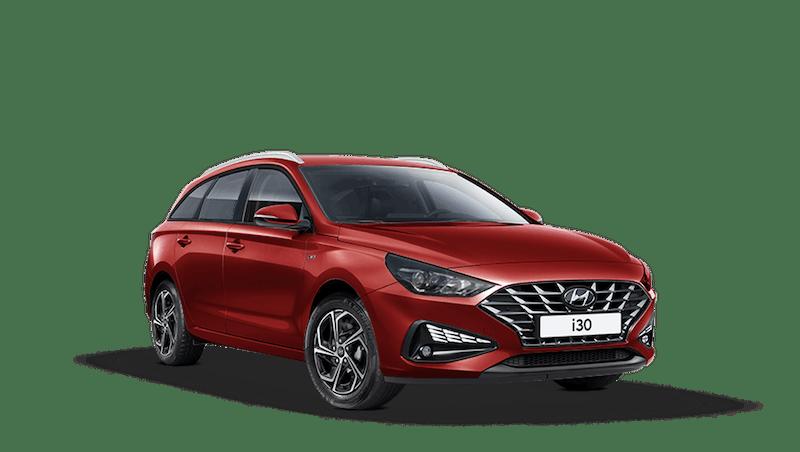 Sunset Red Hyundai i30 Tourer