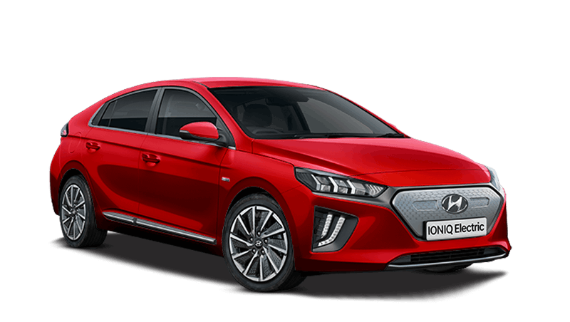 Fiery Red Hyundai IONIQ Electric