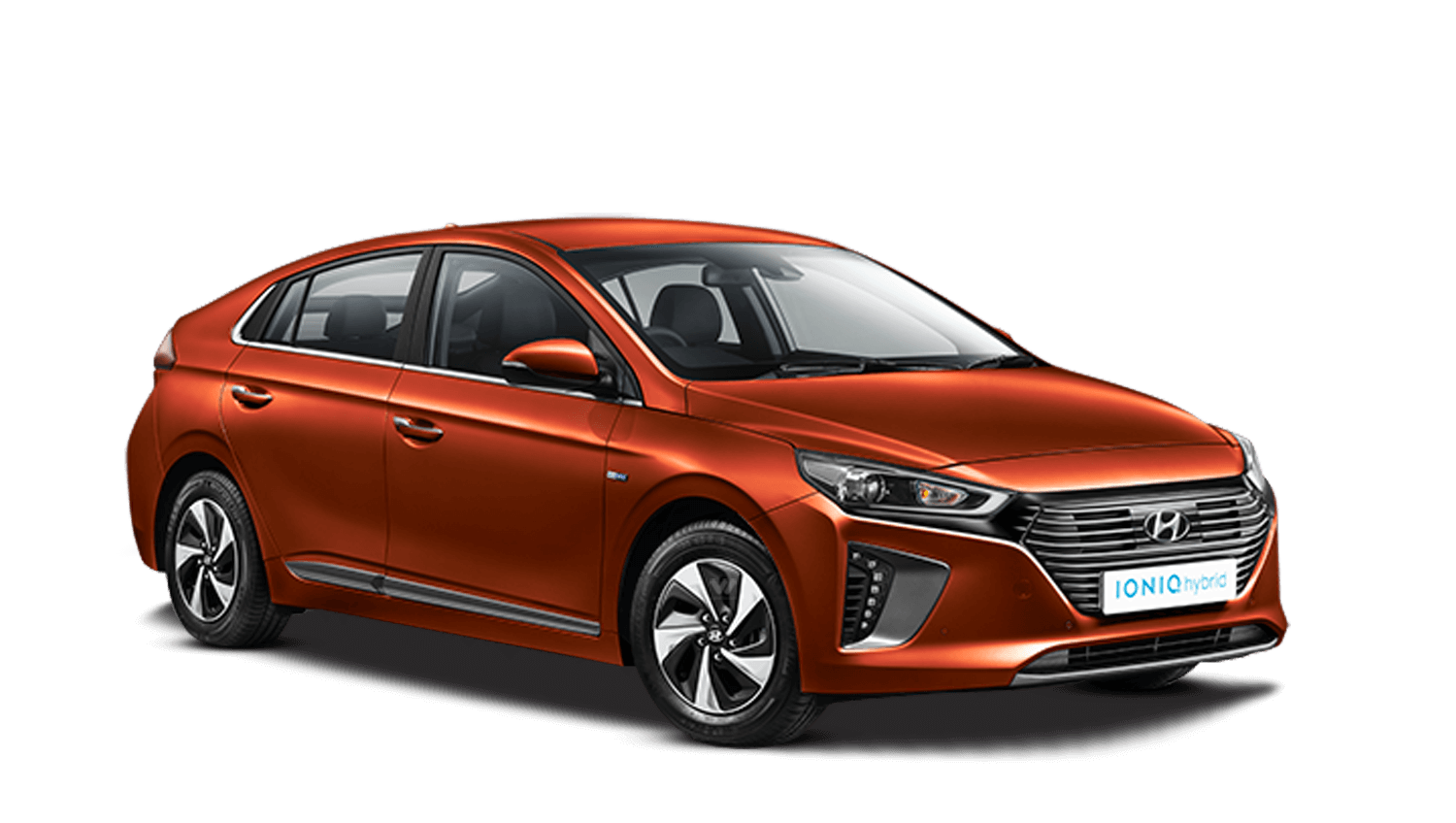 Lava Orange Hyundai Ioniq Hybrid