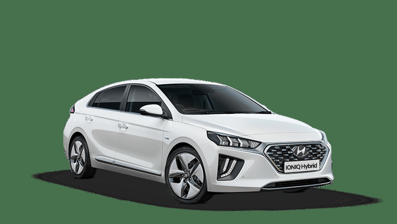 Polar White Hyundai IONIQ Hybrid