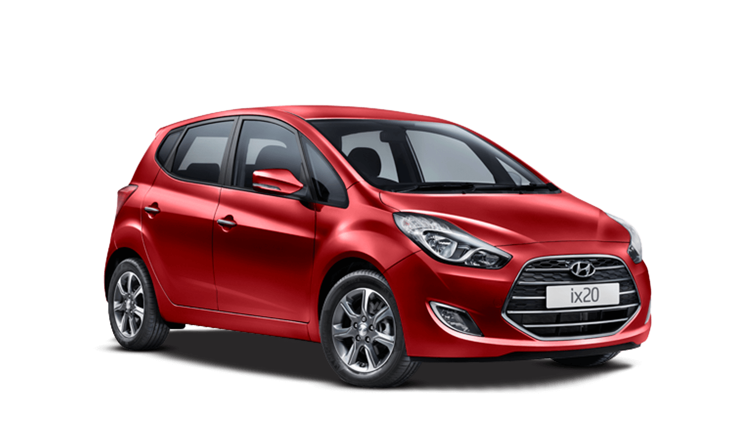Fiery Red Hyundai ix20