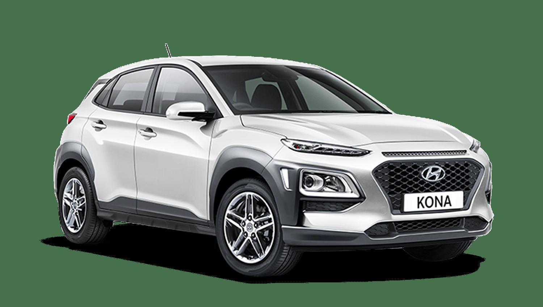 Chalk White Hyundai KONA