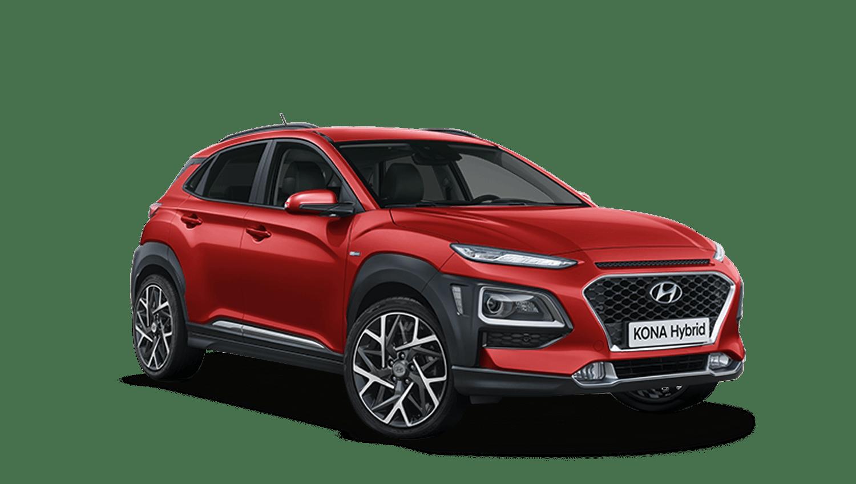 Pulse Red Hyundai KONA Hybrid