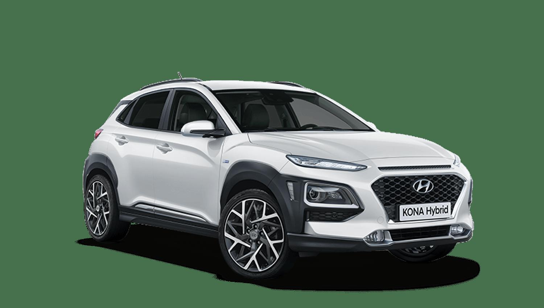 Chalk White Hyundai KONA Hybrid