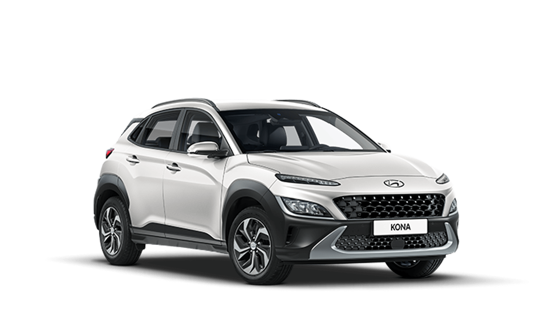 Atlas White New Hyundai KONA Hybrid