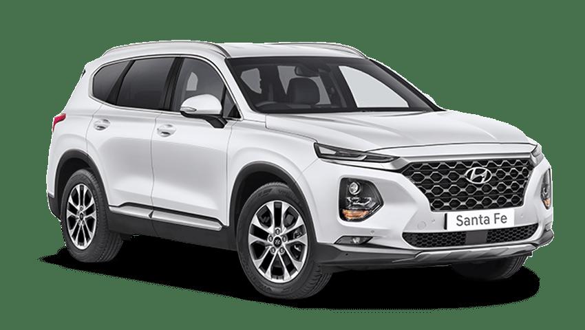 White Cream Hyundai Santa Fe