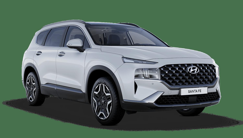 Glacier White Hyundai Santa Fe Hybrid