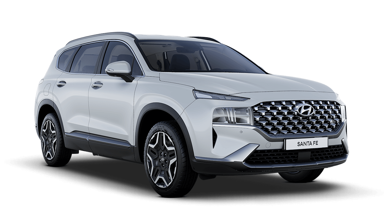 Glacier White Hyundai Santa Fe Plug In
