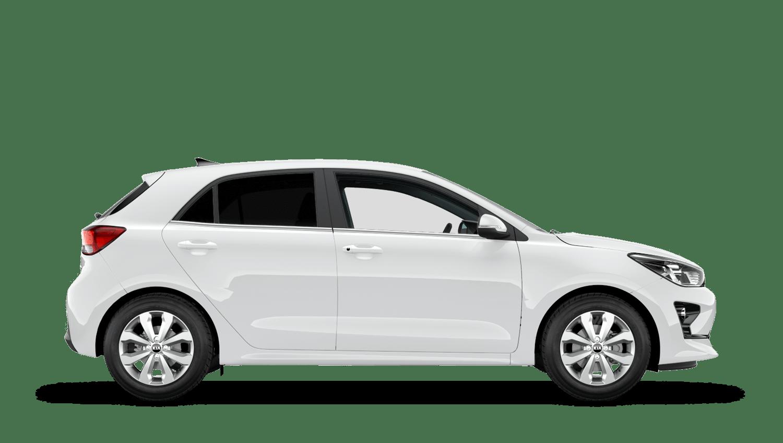 Clear White New Kia Rio