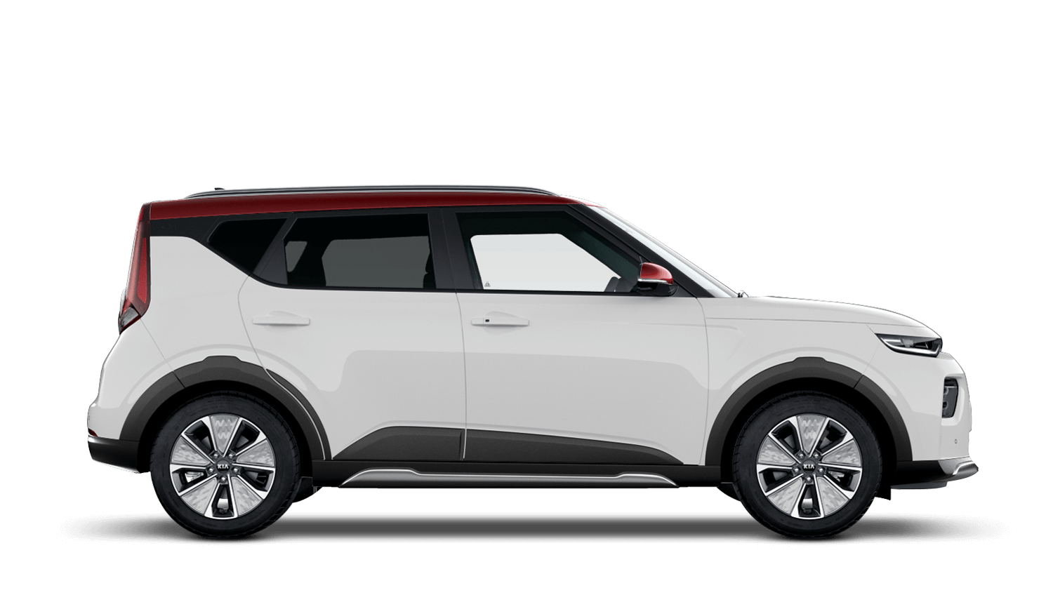 Clear White with Red Roof All-New Kia Soul EV