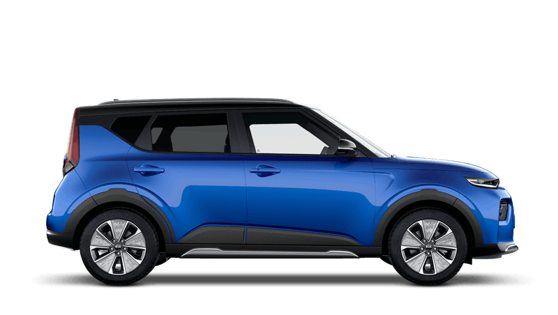 Neptune Blue with Black Roof Kia Soul EV