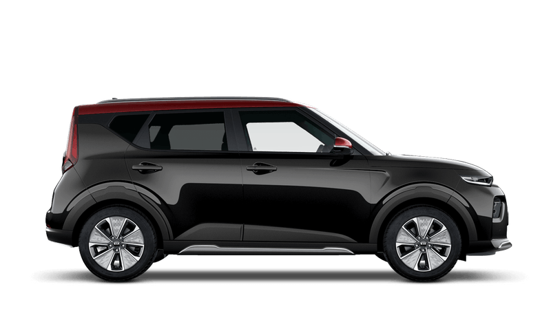 Quartz Black with Red Roof Kia Soul EV
