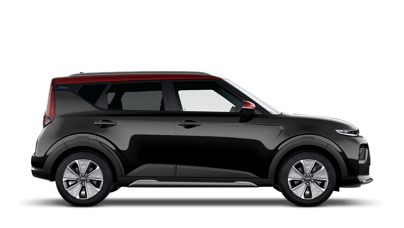 Quartz Black Red Roof Kia Soul EV