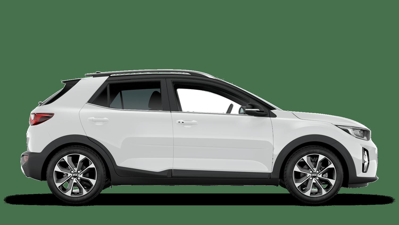 Clear White Black Roof New Kia Stonic