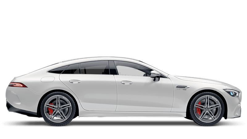 Diamond White Bright (Metallic) Mercedes-Benz AMG GT 4-door Coupe