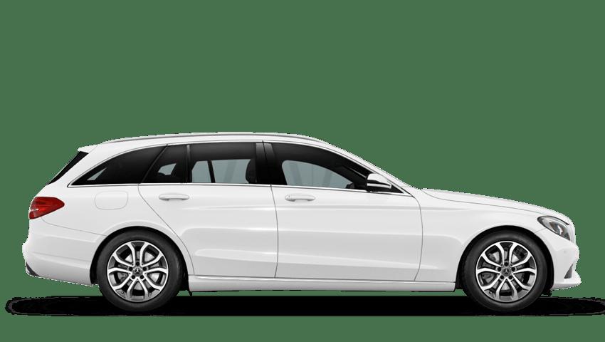 Polar White (Solid) Mercedes-Benz C Class Estate