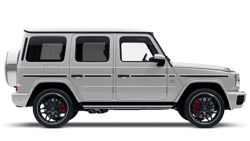 Diamond White (Designo Bright Metallic) Mercedes-Benz G-Class