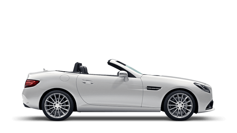 Diamond White (Designo Metallic) Mercedes-Benz SLC Roadster