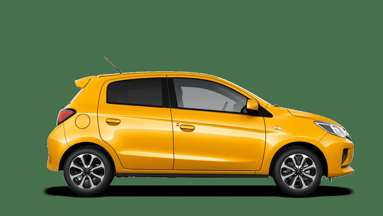 Sand Yellow New Mitsubishi Mirage