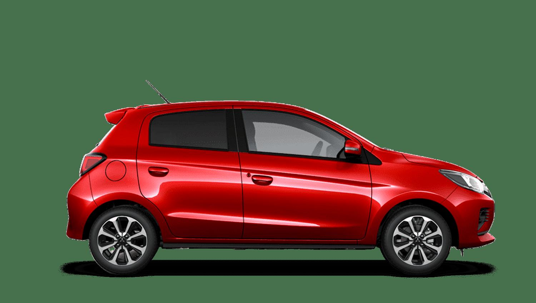 Red Metallic New Mitsubishi Mirage