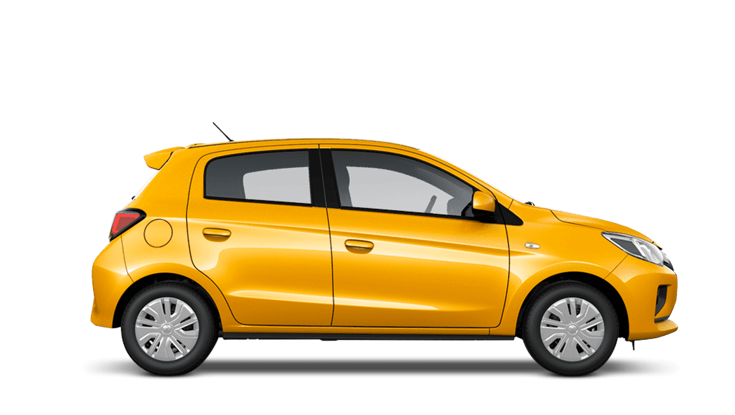 Sand Yellow New Mitsubishi Mirage