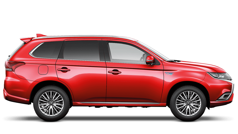 Orient Red Mitsubishi Outlander PHEV