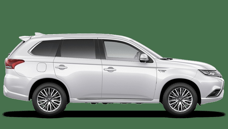 Frost White Mitsubishi Outlander PHEV