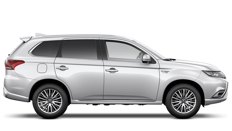 White Pearl Mitsubishi Outlander PHEV