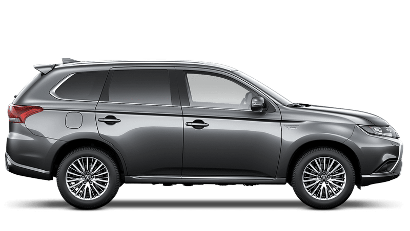 Atlantic Grey (Metallic) Mitsubishi Outlander PHEV Commercial