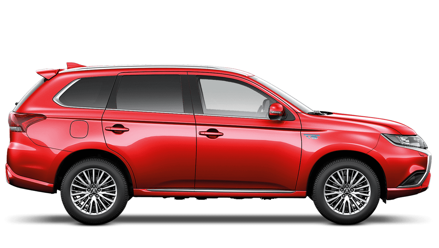 Orient Red (Metallic) Mitsubishi Outlander Phev Commercial