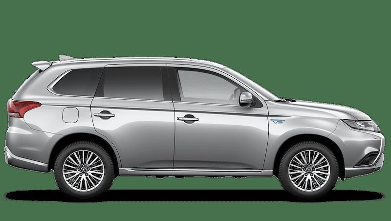 Sterling Silver (Metallic) Mitsubishi Outlander PHEV Commercial