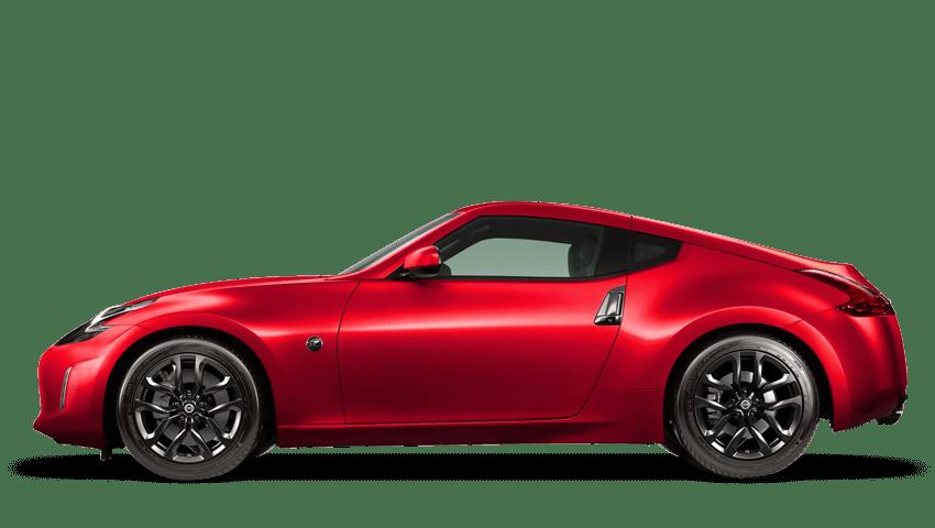 Vibrant Red Nissan 370z