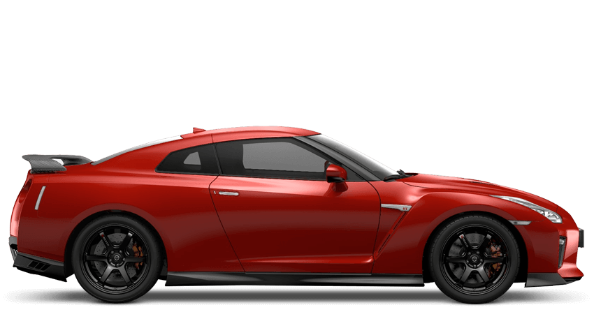 Vibrant Red Nissan Gt R