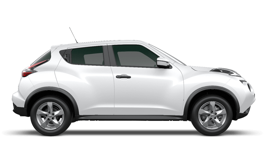 Arctic White Nissan Juke