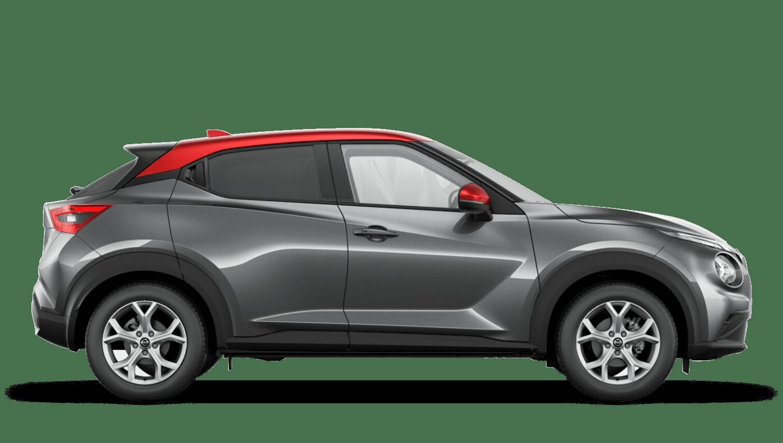 Gun Metallic with Fuji Sunset Red Roof Next Generation Nissan Juke