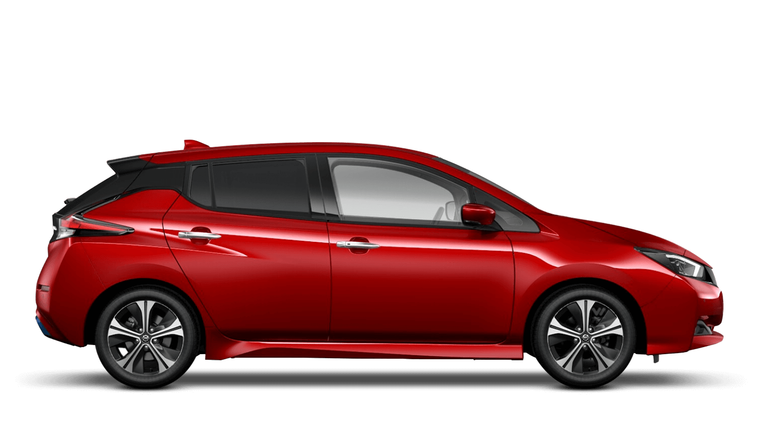 Magnetic Red Nissan LEAF